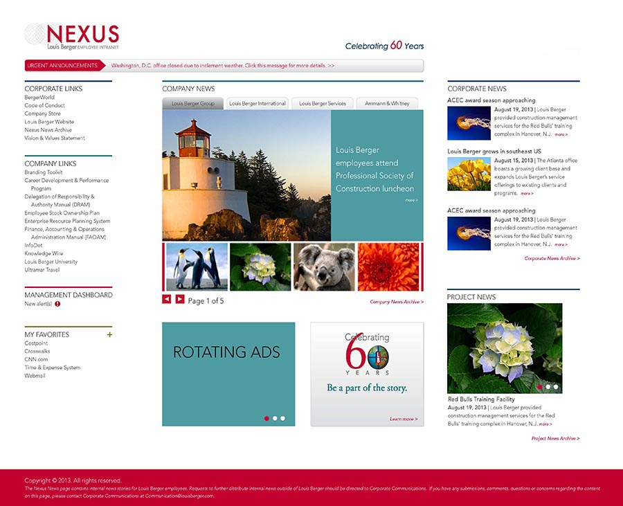 Louis Berger Intranet Site